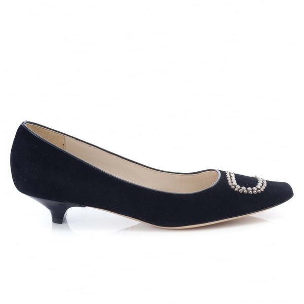 Diamante Buckle Low Court