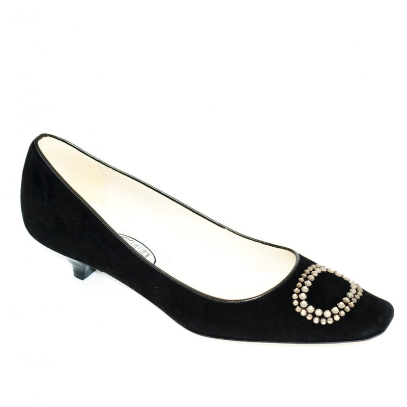 hoity-toity-shoes - Diamante Buckle Low Court - Emma Hope - Low Heel,Pumps