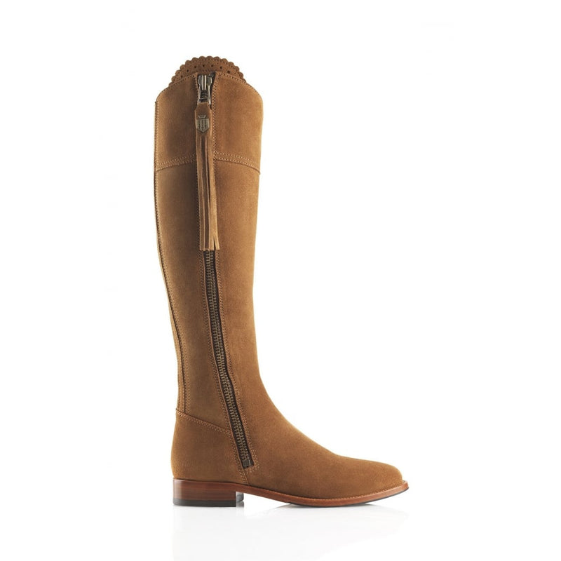 hoity-toity-shoes - Regina (Tan) Suede Boot - Fairfax & Favor - Boots