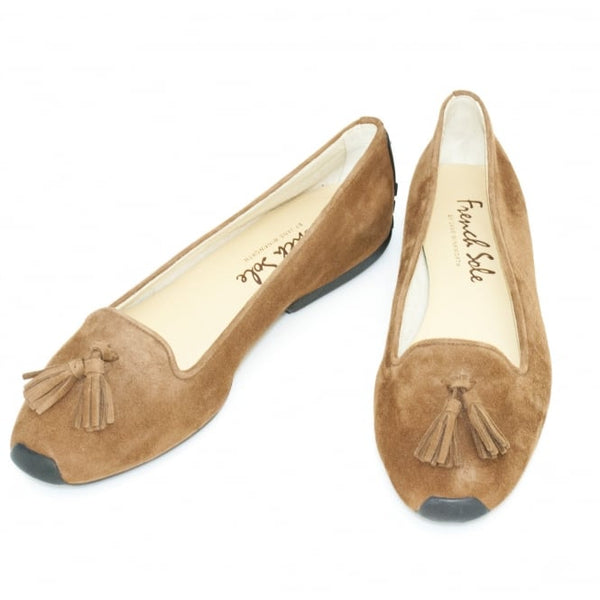 hoity-toity-shoes - Gabi Tassel Driver in Brown Suede - French Sole - Flats > Flat Loafer,Flats