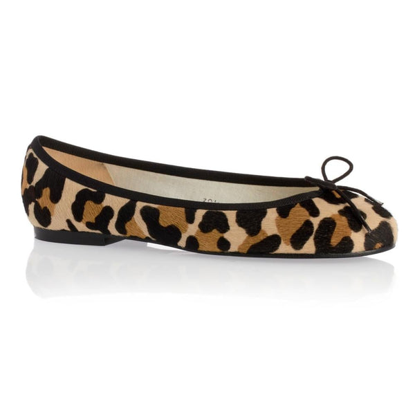 hoity-toity-shoes - Jaguar Print Henrietta Flats in pony hair - French Sole - Ballet Flats