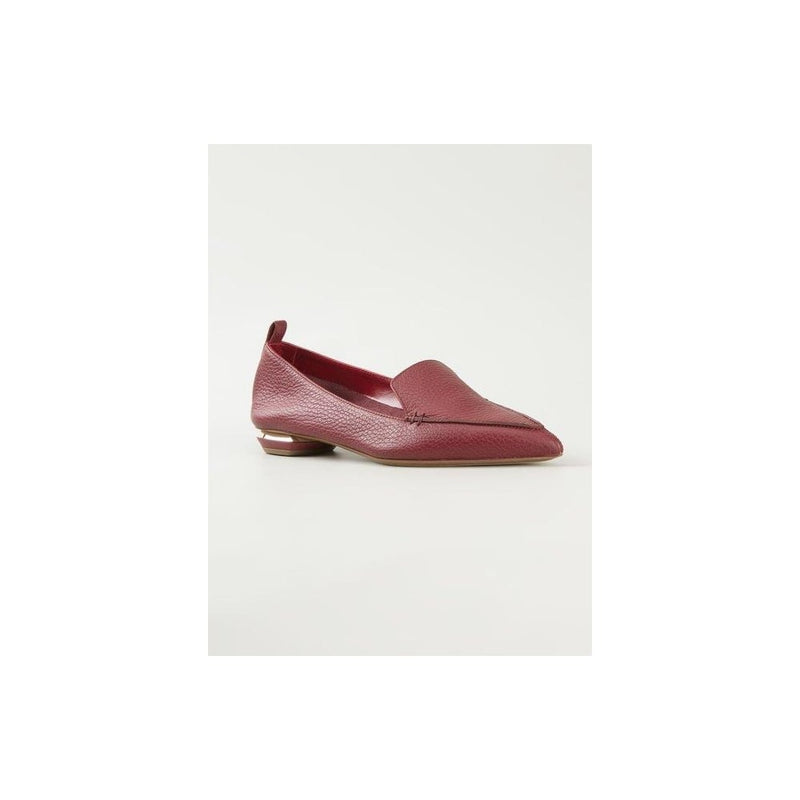 hoity-toity-shoes - Nicholas Kirkwood Beya Loafer in Burgundy Calf 18mm - Nicholas Kirkwood - Flats > Flat Loafer,Flats