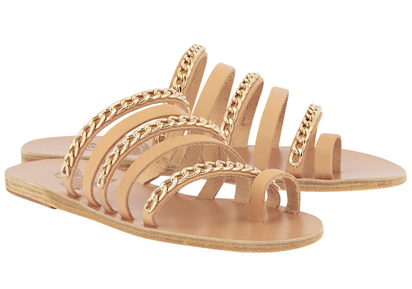 Niki-chains-flat-sandal-in-natural-leather