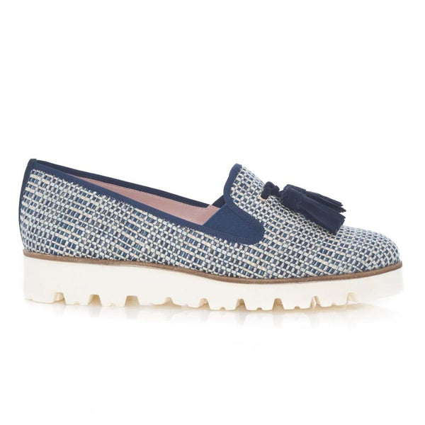Charlize Togo Marino Angelis Navy Blue Loafer