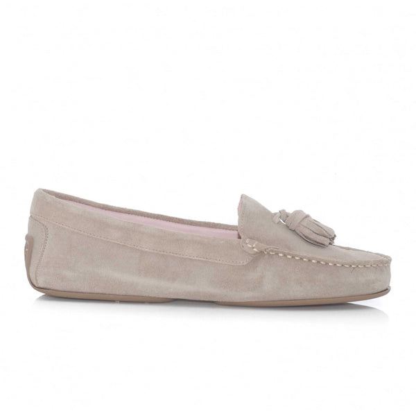 Josephine Tasseled Driving Shoe Sand