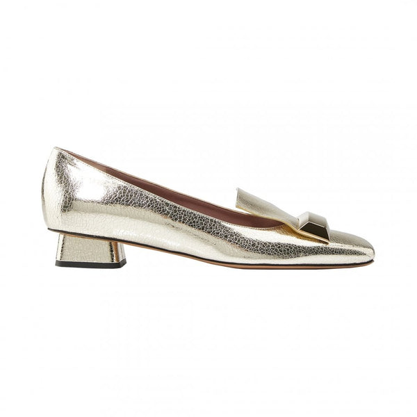 Rayne of London Adalberta Gold Metallic Leather Pumps