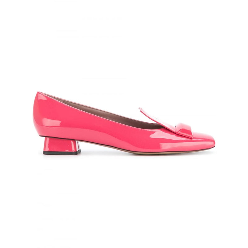 hoity-toity-shoes - Rayne Adalberta Low Heel Pumps in Raspberry Patent - Rayne Of London - Pumps,Low Heel
