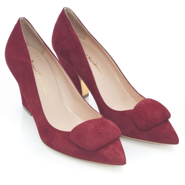 hoity-toity-shoes - Pierrot Mid Heel Pebble Pumps in Supernova Suede - Rupert Sanderson - Mid Heel,Pumps