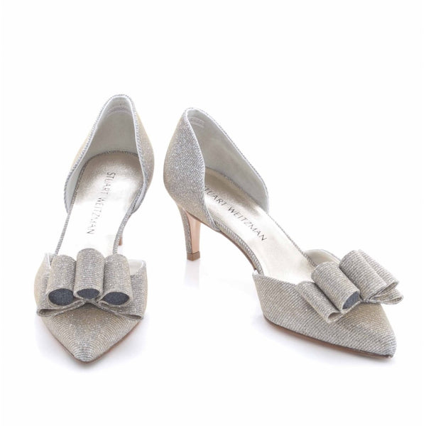 hoity-toity-shoes - Babow Mid Heeled Court Shoe - Stuart Weitzman - Mid Heel,Low Heel,Pumps