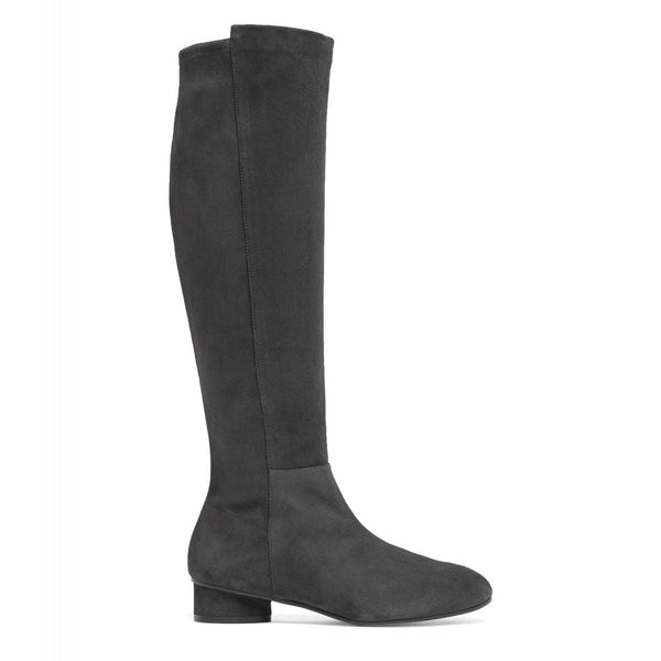 hoity-toity-shoes - Eloise 35mm Asphalt Grey Suede to the Knee Boot - Stuart Weitzman - Boots