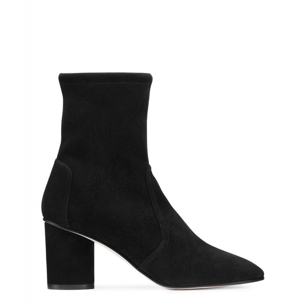 hoity-toity-shoes - Margot 75mm Black Suede Sock Bootie - Stuart Weitzman - Boots > Ankle Boots,Boots