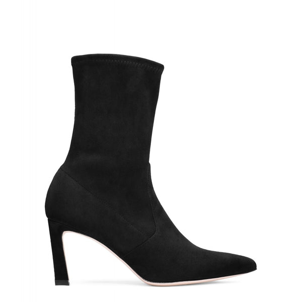 hoity-toity-shoes - Rapture 75mm Sock Bootie in Black Suede - Stuart Weitzman - Boots > Ankle Boots,Boots