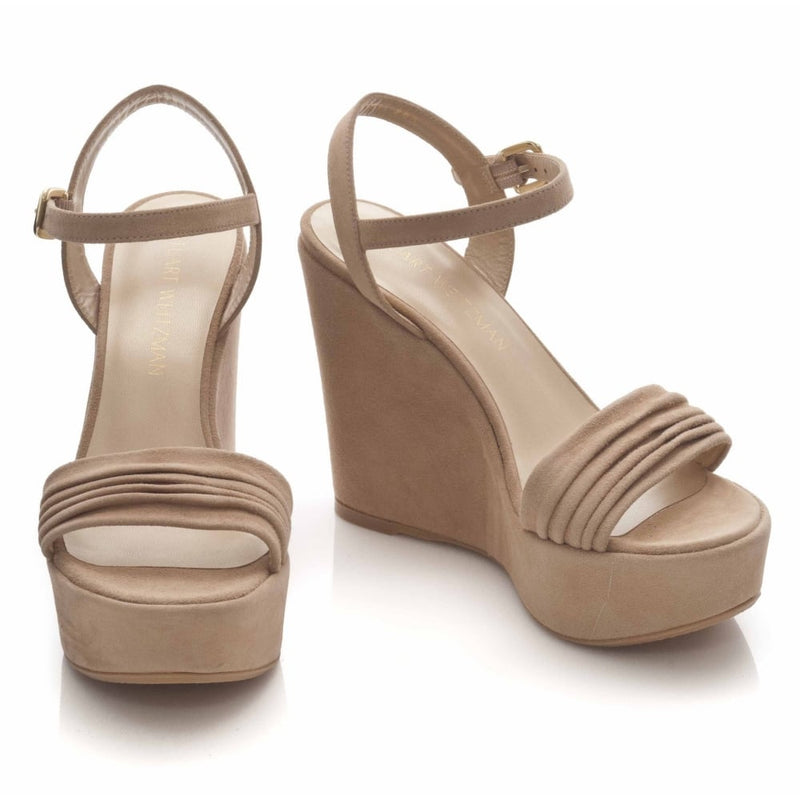 hoity-toity-shoes - Sundraped Suede Wedge Platform Sandal - Stuart Weitzman - Wedge