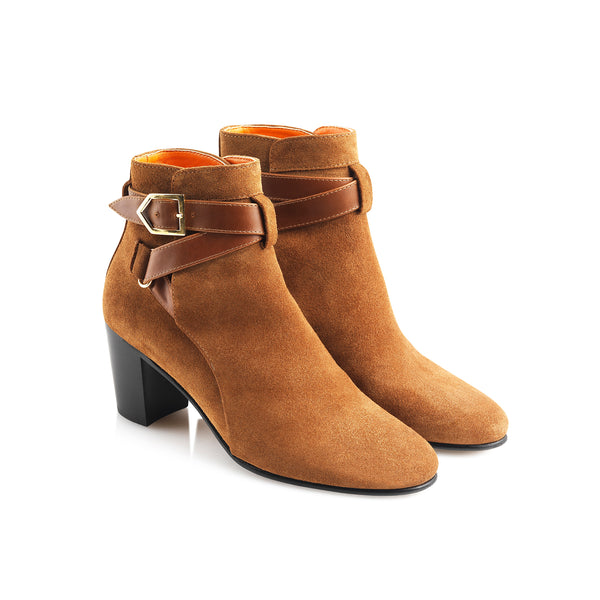 hoity-toity-shoes - Kensington Tan Suede Ankle Boot - Fairfax & Favor - Boots > Ankle Boots,Boots