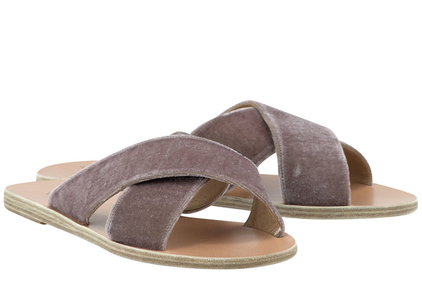 Ancient-Greek-Sandal-Thias-Criss-Cross-Velvet-Mule