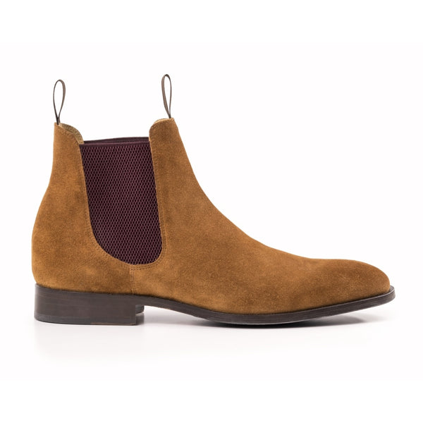 The Classic Mens Chelsea Boot in Tan suede