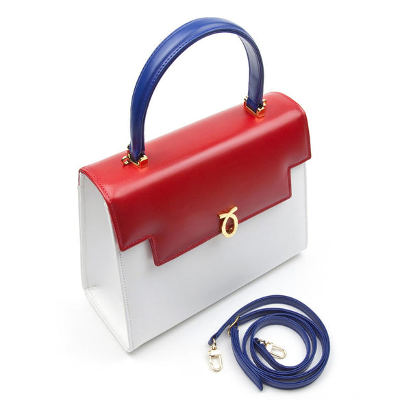 hoity-toity-shoes - Judi Tote Handbag in Multi Colour Calf Leather - Launer Of London - Accessories > Handbag