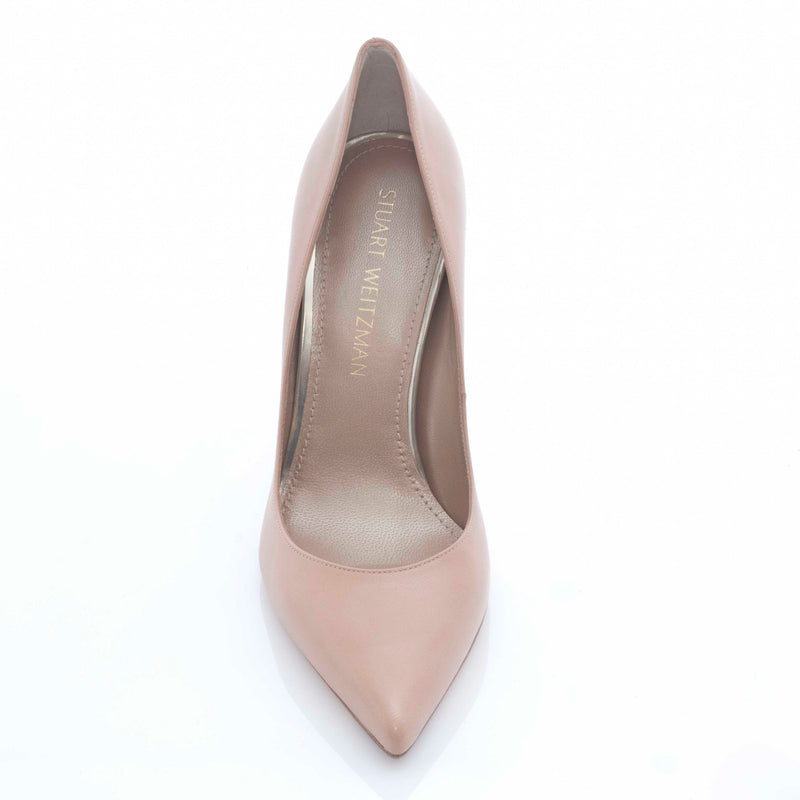 hoity-toity-shoes - Curvia Adobe Kid Nude Pumps - Stuart Weitzman - Pumps,High Heel