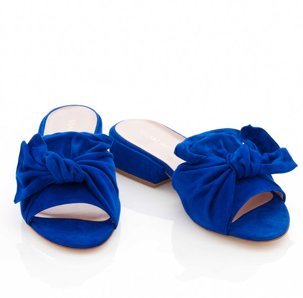 Giftwrap Mule in Electric Blue Suede