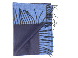 Blue Double Panel Scarf