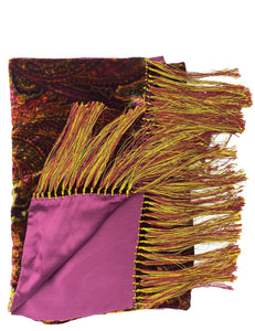 velvet double panel scarf made in italy