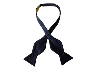 Navy Grosgrain Self Butterfly Bow