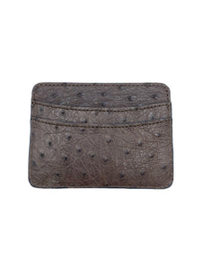 ostrich card case made in italy