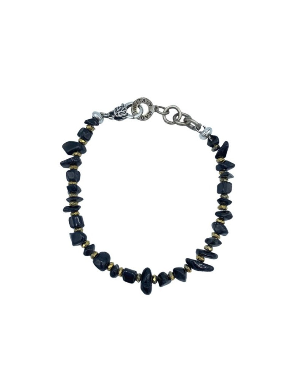 black onyx bracelet made in italy
