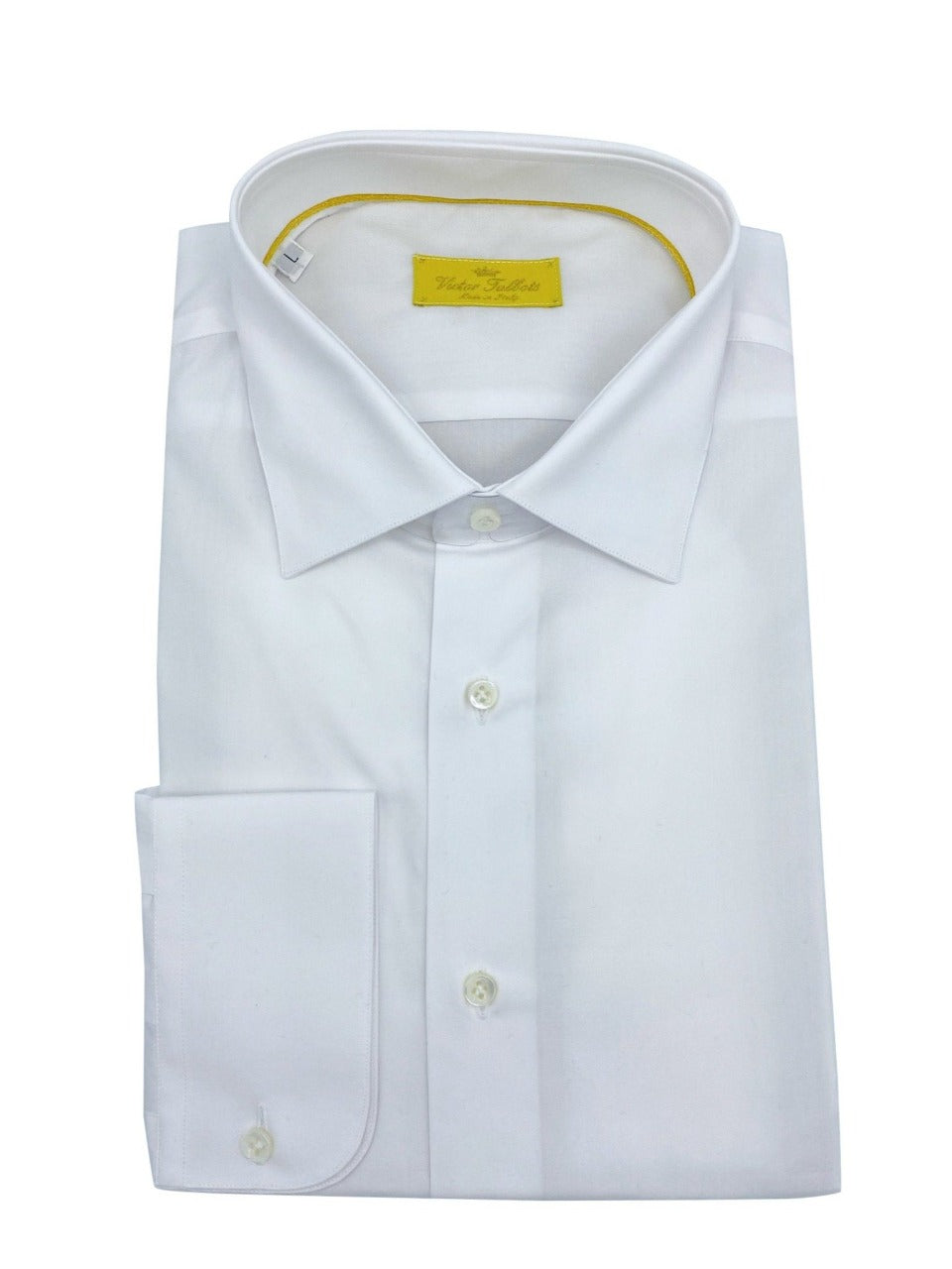 victor talbots white dress shirt made in italy