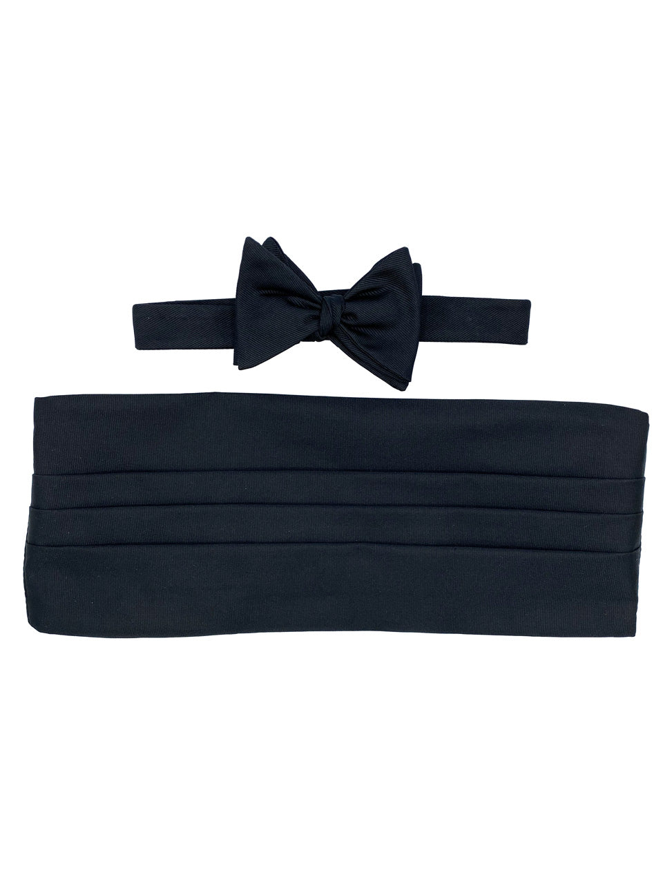 Black Grosgrain Bow Tie & Cummerbund Set