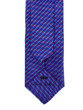 Load image into Gallery viewer, Blue & Pink Mosaic Necktie & Pocket Square Set