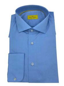 victor talbots blue dress shirt made in italy