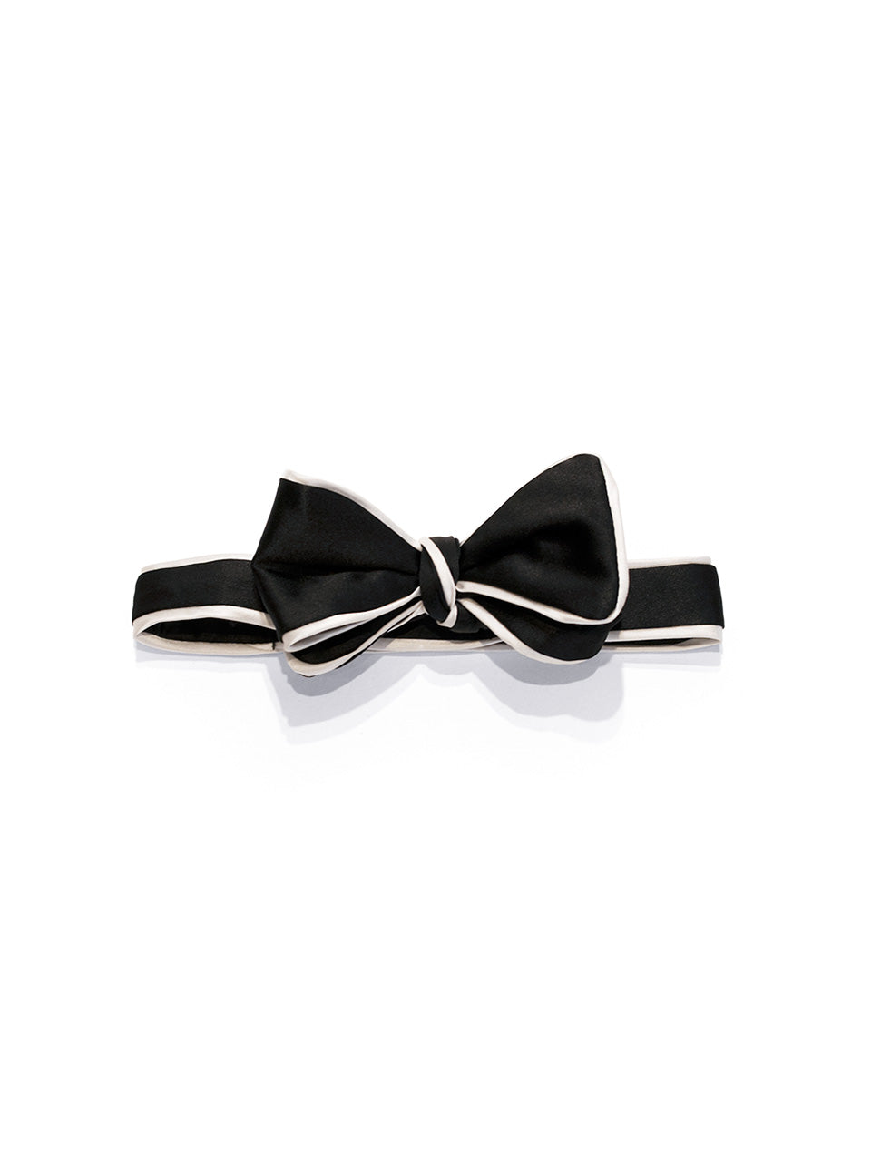 Black Self Bow with Piping