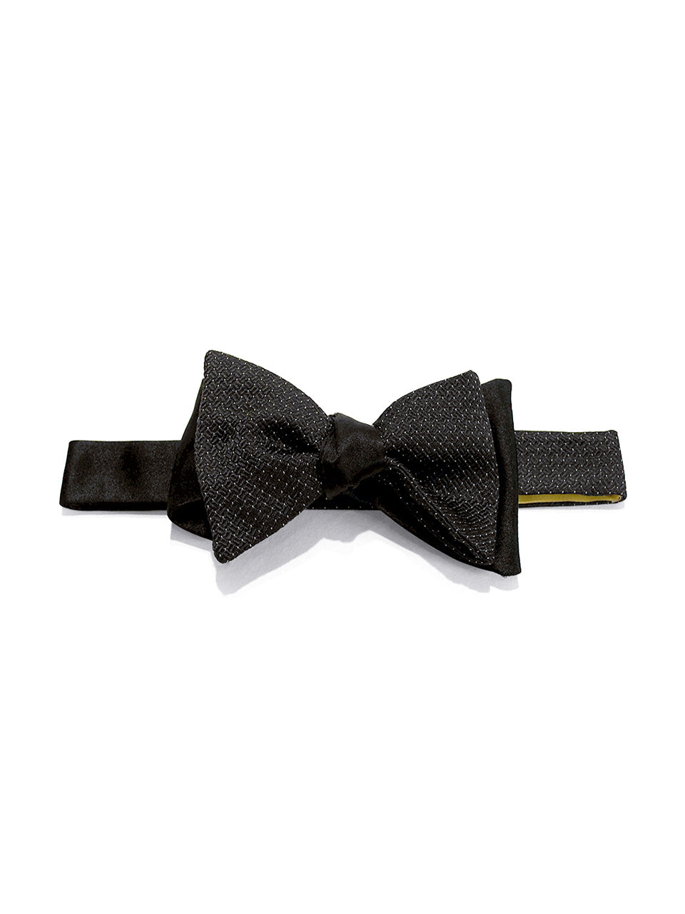 Black & White Multi Panel Self Pindot Bow Tie