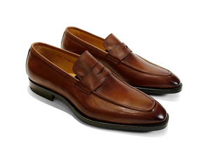 Harrison Burnished Penny Loafer