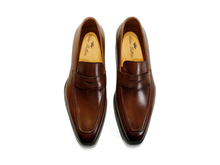 Load image into Gallery viewer, Harrison Burnished Penny Loafer