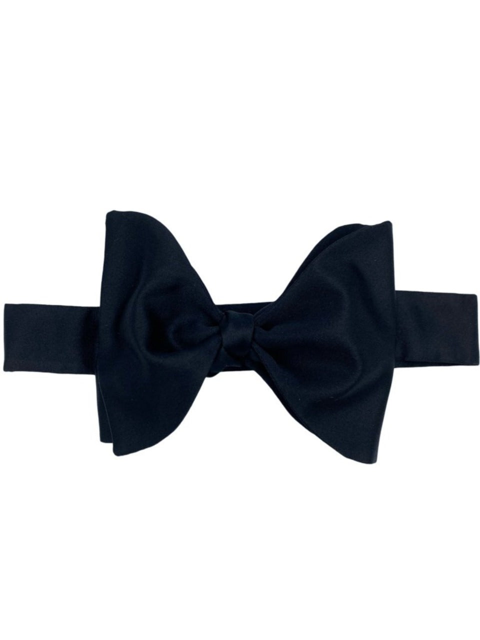 black silk self tie bow made in USA