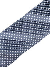 Load image into Gallery viewer, Grey & White Polka Dot Pleated Necktie & Pocket Square Set