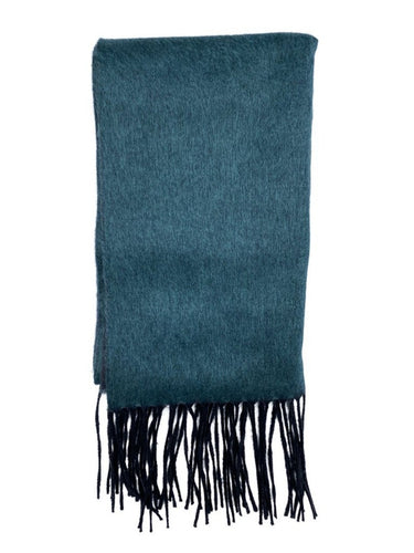 jade double panel silk & cashmere scarf made in italy