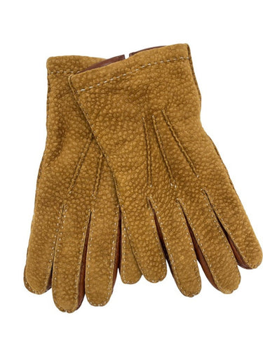 MD chestnut suede gloves