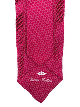 Load image into Gallery viewer, Pink with White Circle Chainlink Pleated Necktie & Pocket Square Set