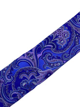 Load image into Gallery viewer, Purple Paisley Necktie & Pocket Square Set