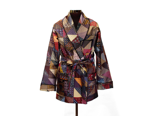 Patchwork Smoking Jacket