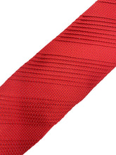 Load image into Gallery viewer, Red & White Diamond Check Pleated Necktie & Pocket Square Set