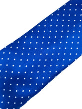 Load image into Gallery viewer, Royal Blue Pin Dot Necktie & Pocket Square Set