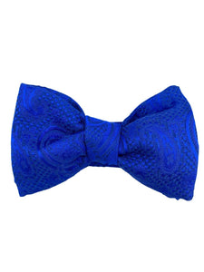 royal blue pre tied bow made in italy