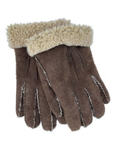 Load image into Gallery viewer, chocolate brown shearling gloves