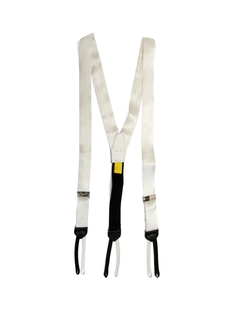 white silk braces made in usa