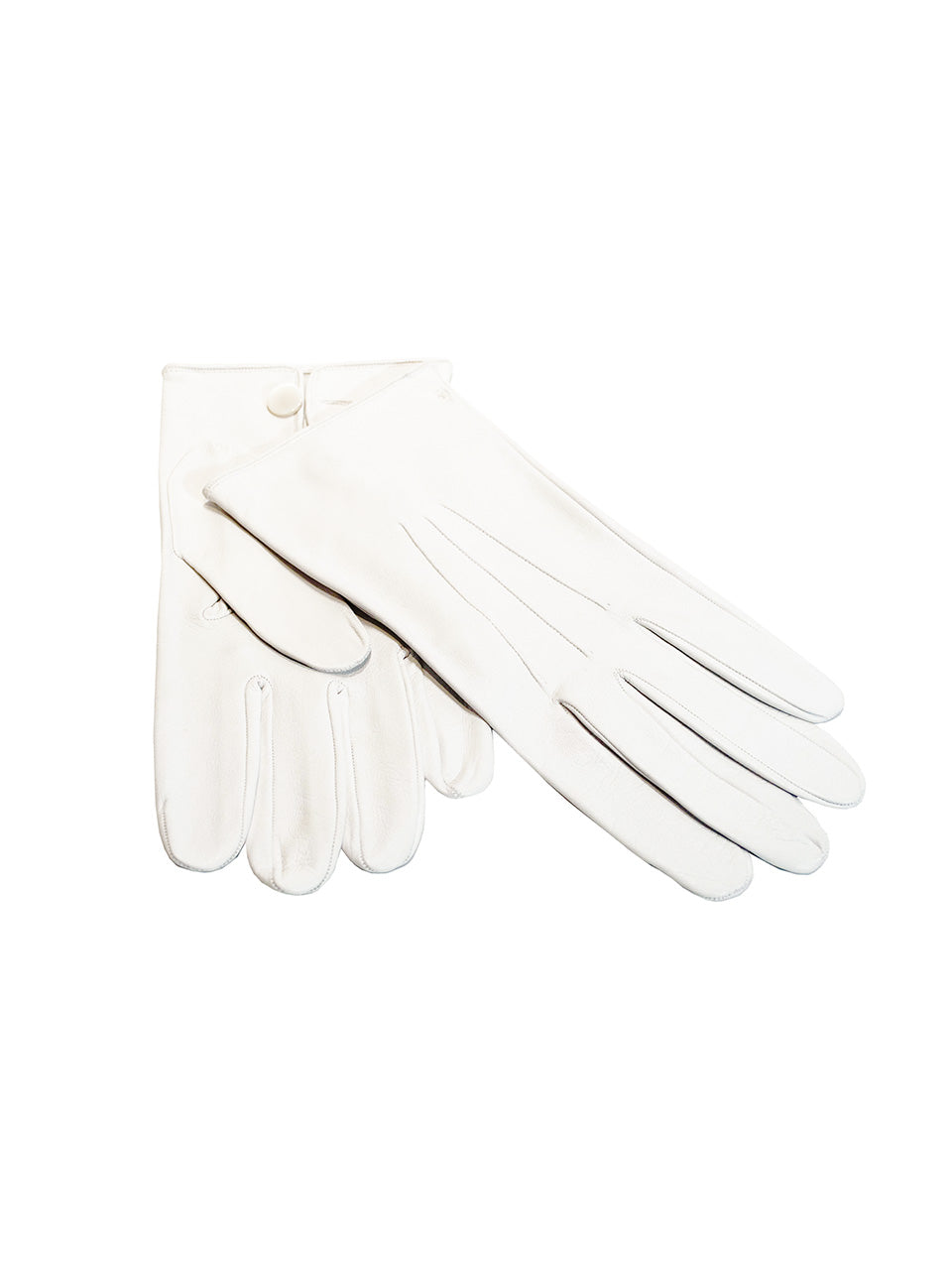 white leather formal gloves