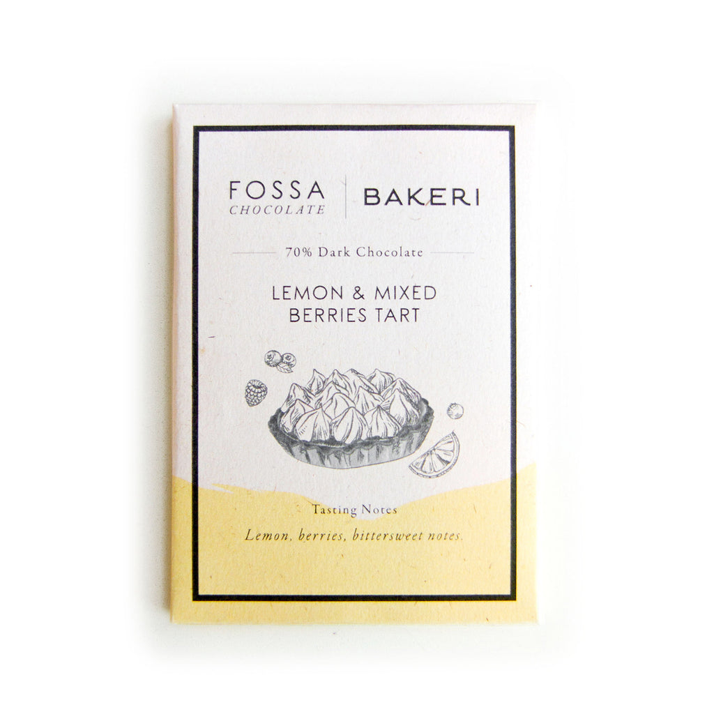 Fossa X Bakeri Chocolate - Lemon & Mixed Berries Tart (50g)